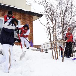 A-Fierd活動 雪かき活動
